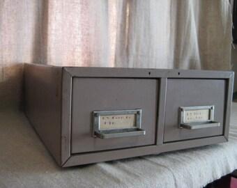 Vintage Industrial Metal File Cabinet / Steelmaster Art Steel Co. Inc. File Drawers /
