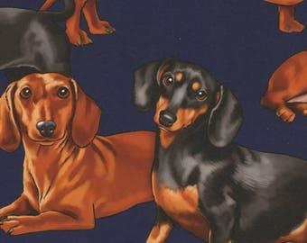 Timeless Treasures Navy Purebred Pups Fabric - 1 yard