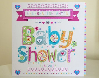 BABY shower card personalised Baby shower -