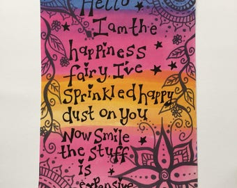 Happiness fairy funny quote