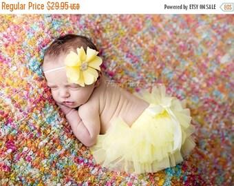 ON SALE Yellow Tutu Bloomer and Headband, Tutu Bloomer, Baby Bloomer, Baby Prop, Newborn Photo Prop, Diaper Cover, Baby Girl Prop FREE Shipp