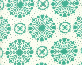 Handmade Olivia Teal Green by Bonnie and Camille for Moda, 1/2 yard cotton fabric
