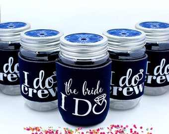 ON SALE Bachelorette Party Cups, Bachelorette Party Favors, I Do Crew Cups, Navy
