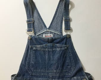 Vtg denim Overalls, shorts overalls, denim shortalls, Large overalls,  vtg short overalls, jeans overalls,