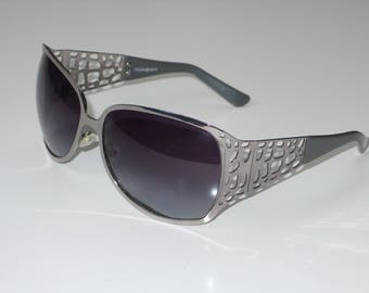 Vintage YSL sunglasses silver metal frame 6249/S made in Italy