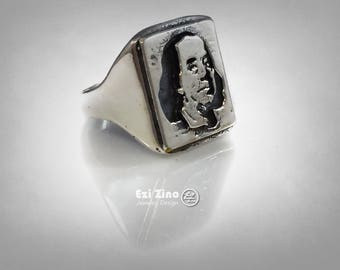United States dollar Benjamin Franklin  ring sterling silver 925 by EZI ZINO