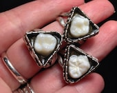 BACK IN STOCK - Deep Triangle Resin Set Real Human Molar Adjustable Ring