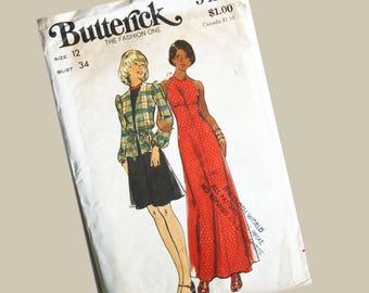"Butterick Dress Pattern size 12, Bust 34"""