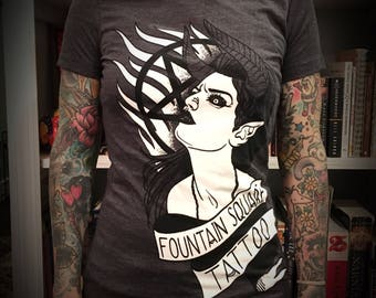 Devil Woman Fountain Square Tattoo T shirt