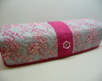 Fuchsia Gray Pin Dots  - Quilted Cricut Explore Cozy - Explore Cozy - Explore Dust Cover