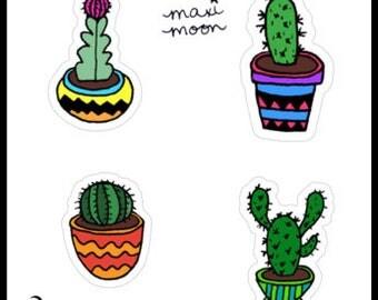Cute Cacti Sticker Sheet