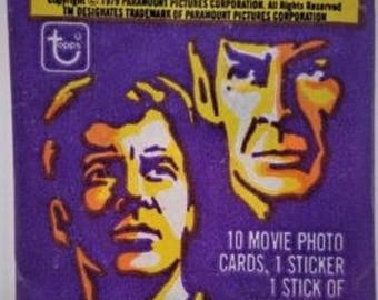 Vintage Star Trek The Motion Picture Sealed Wax Pack Trading Cards