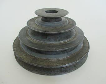Vintage Industrial Salvage - Circular Shape - Industrial Decor - Garden Decor - Assemblage Art