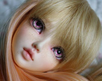 BJD eyes Doll eyes Hand made available in 12/14/16/18/20/22/24mm Peaches & Cream made to order