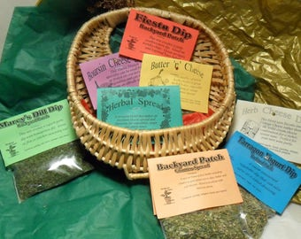 Dip Mix Collection CHOOSE ONE of Eight different, hand-blended, home grown cooking herbs, dips, Herb mixes, Backyard Patch