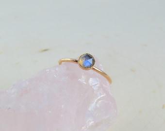 Gold Labradorite Ring | Labradorite Ring | Dainty Gold Ring | Stacking Ring | Sterling Silver Ring | Gift for Her | Christmas Gift