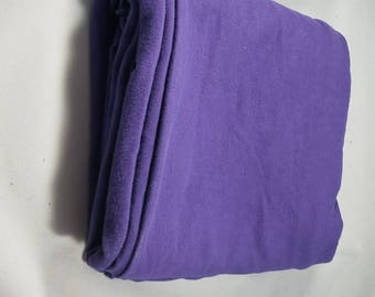 Half Yard Purple Hand Dyed Organic Cotton Jersey Knit with spandex Fabric Remnant Made in the USA
