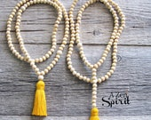 Mala Meditation Beads, Spiritual Jewelry, 108 bead Meditation Mala, Worry Beads, Yoga Jewelry, Tassel Mala