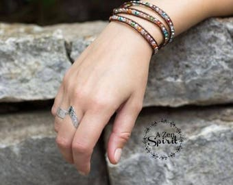 Crystal Wrap Bracelet, Zen Jewelry, Chakra Jewelry, Yoga Jewelry, Boho Jewelry