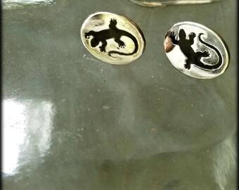 Sterling Silver Lizard Earrings