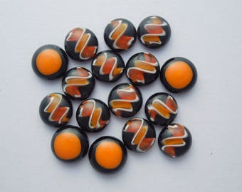 Fused Glass Mini Cabochons - Lampwork Beads - Dichroic Glass - Fused Glass - Findings - Glass Beads - Stained Glass 5227