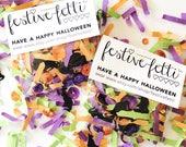 Black Cat Halloween Confetti. Witch Green Orange Purple Confetti Mix. Halloween Party Confetti with Black Cats. Halloween Class Party Favors