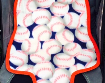 Waterproof Carseat Pad - Baseballs