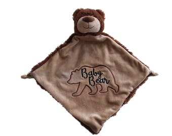 baby blanket, animal blanket,baby bear blanket, baby bear, bear nursery, baby shower gift, cubbie blanket, bear