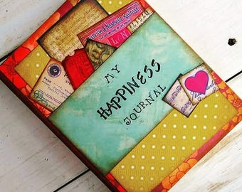 Happiness Journal Keepsake Unlined Pages