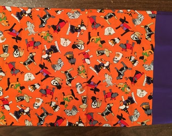 Halloween travel pillow case/toddler pillow case Trick or Treat Bag 100% cotton Doguin Halloween Costumes