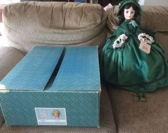 "Madame Alexander 21"" Scarlett #2240 in Green Velvet 1979-85 w/box, tags"