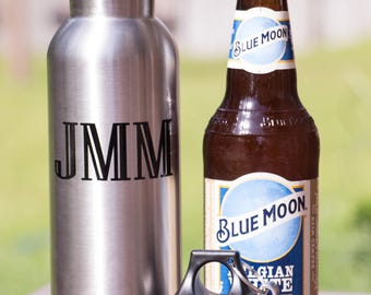 Personalized Bottle Holder - Stainless Beer Bottle Keeper - Gifts for Him - Gifts For Her - Wedding Party Gifts - Groomsman Gifts