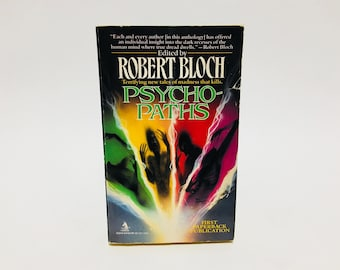 Vintage Horror Book Psycho-Paths by Robert Bloch 1993 Paperback Anthology