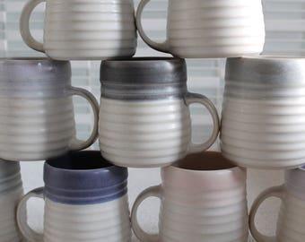 Groove Porcelain Pottery Mug