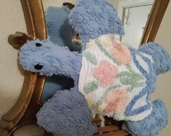 chenille pillow sea turtle