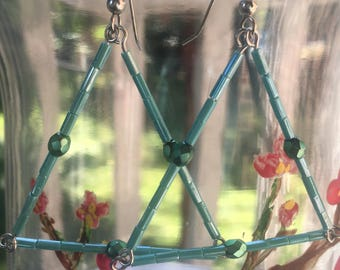Geometric Earrings - Art Deco Jewelry - Art Deco Earrings - Whimsical Jewelry - Summer Earrings - Statement Earrings - Gift for Wife