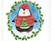 CARD Christmas Penguin