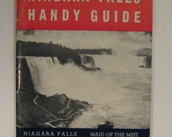 Vintage 1950's Niagara Falls Handy Guide Tour Map Buffalo Canadian Illustrations