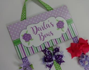 Hair Bow Holder, Personalized Hair bow Hder, Girls Bow Holder, Hairbow  Organizer, Bow Holder