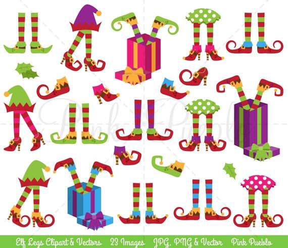 Christmas Clipart Elf Legs Clip Art Elf Feet Clipart Elf