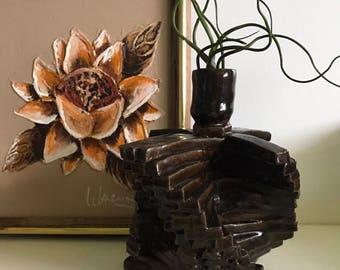 Vintage Handmade Pottery Candle Holder