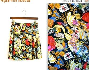 SALE 90s Vintage Silk Tennis Skirt Silk Wrap Skirt by Nicole Miller with Beverly HIlls Small// Hollywood California Silk Pleated Skirt