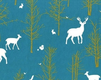SALE 10% Off - Timber Valley in Teal  MD6462 - BRAMBLEBERRY Ridge by Violet Craft  - Michael Miller Fabrics - By the Yard