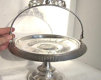 Silver Tray, Antique Silver, Wedding, Bride, Bridal Basket, Shower, Serving, Victorian, 1800s