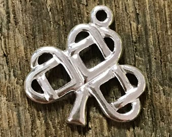 NEW 2 Sterling Silver Celtic Knot Tree of Life Charms -  17mm with 1.4mm ID  C87