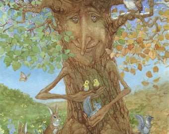 Tree of Seasons 8.5x11 Signed Print