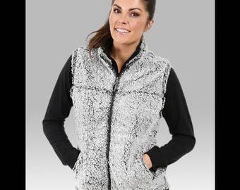 Monogrammed sherpa vest, kids sherpa, youth sherpa, monogrammed vest, vest, fleece vest, fuzzy vest