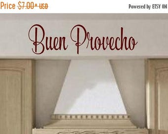 20% OFF Buen Provecho  Spanish wall decal - Bon Appetit Vinyl decals kitchen cooking wall decal  quotes stickers decor dining room family fo