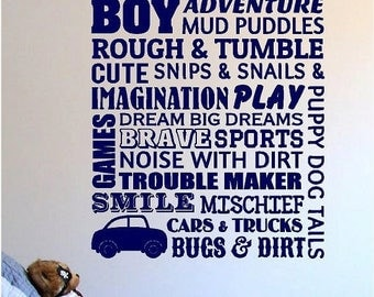 20% OFF Boys Room-Vinyl Lettering  decals wall words decal graphics Home decor itswritteninvinyl