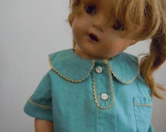 "Ana McGuffey Blue Pajamas 15"" Doll Outfit"